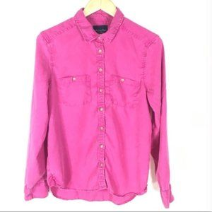 American Eagle Pink Button Down Shirt Size Small